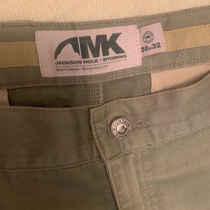 Mountain Khakis - men's, olive. Size 36-32.